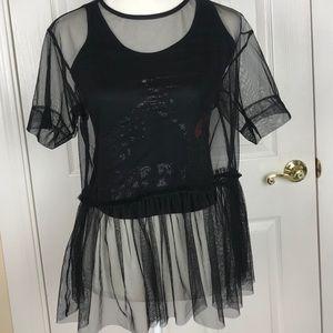 NWT Zara Basic Post Punk Top Size Small